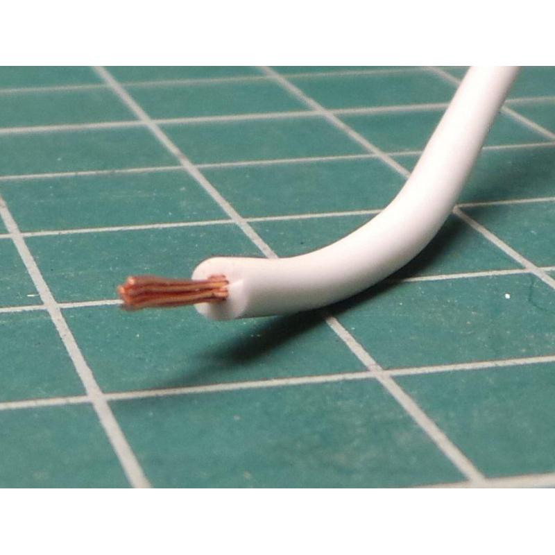 22AWG, 0.5 mm2, Stranded, Silicon, 180°, white - DSMCZ