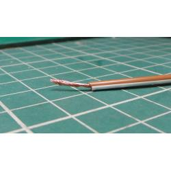 22AWG, 0.5 mm2, Stranded, PVC, 105°, Brown/White