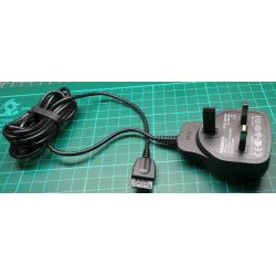 Mobile Phone Charger, Siemens ETC-510, Input 100-240VAC, Output 5VDC, 620mA, UK Plug, 1.7m
