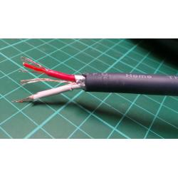 Flexible OFC microphone cable, 24AWG, 6 mm Dia
