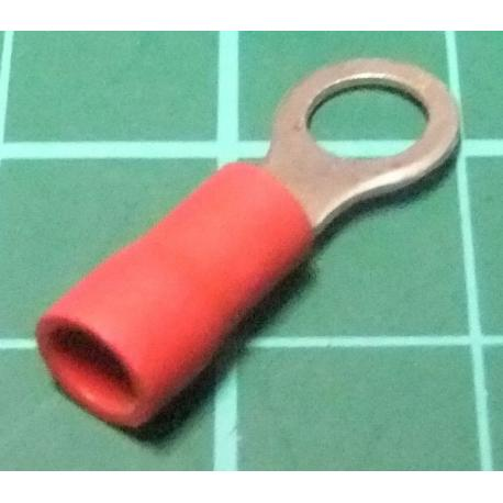 M? Ring Terminal, Crimp, Red
