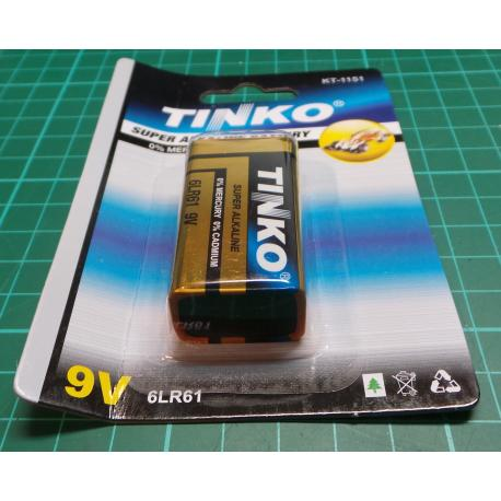 Tink battery 9V (6F22) alkaline-blister