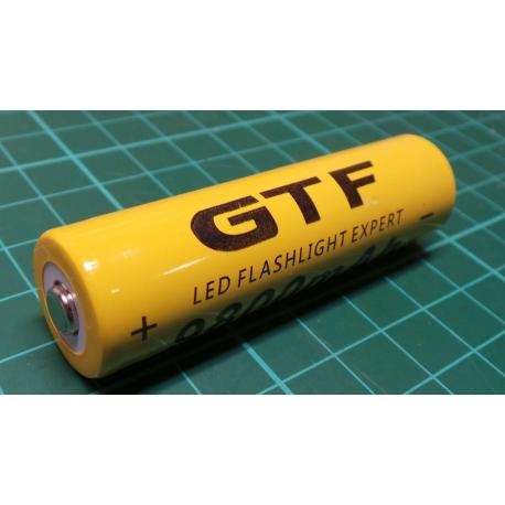1pc 3.7V 18650 9800mAh Li-ion Rechargeable Battery For Flashlight Torch HH