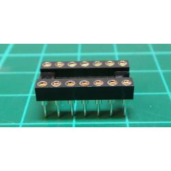IC DIL Socket, 14 Pin, Turned Contacts