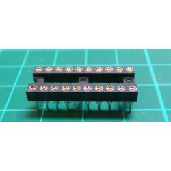 IC DIL Socket, 20 Pin, Turned Contacts