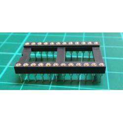 IC DIL Socket, 24 Pin, Turned Contacts