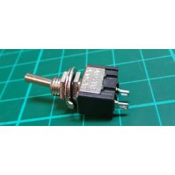 Vypínač páčkový ON-OFF 1pol.250V/3A otvor 6mm