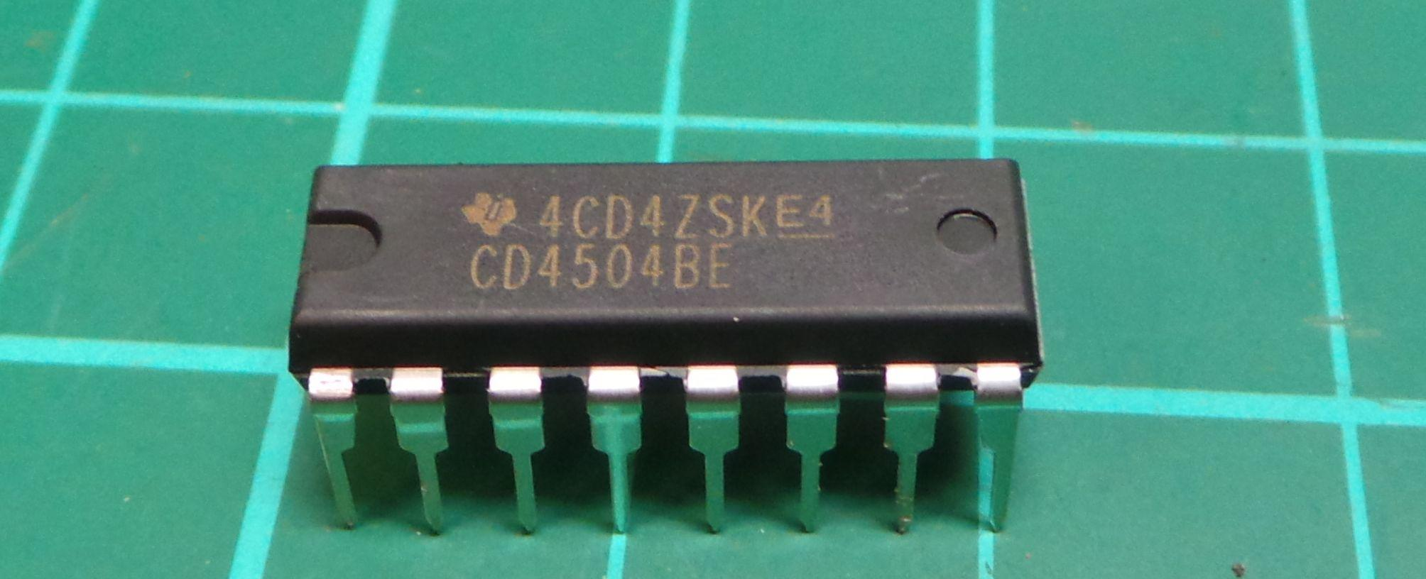 4504 Cd4504be 6 Channel Ttl To Cmos Level Converter Dip16 Dsmcz Rs232 Using Transistor Circuit