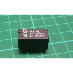 Relay: electromagnetic, DPDT, Ucoil:5VDC, 1A/125VAC, 1.25A/30VDC
