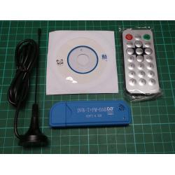 USB DVB-T+DAB+FM, RTL2832U+R820T2, For SDR (Software Defined Radio)