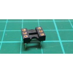 IC DIL socket, 6 Pin, Turned Contacts