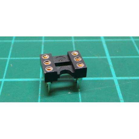 Socket 2x3 Black 6 DIL precision
