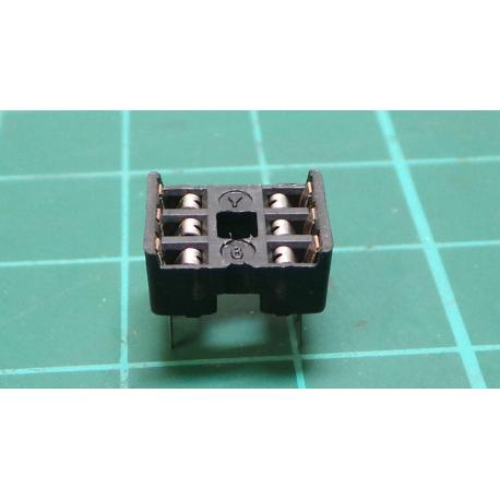 DIL socket 6 2x3 black
