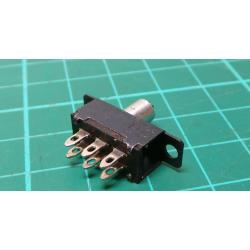 Sliding switch ON-ON 2pol.50V / 0.5A