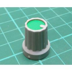 Knobs KP15, 15x18mm, shaft 4mm, green