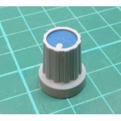 Knobs KP15, 15x18mm, shaft 4mm, blue