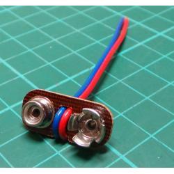Battery Clip, 9V, PP3 / MN1604, Economy