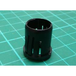 LED 8 mm sleeve one-piece black plastic RTF-8080
