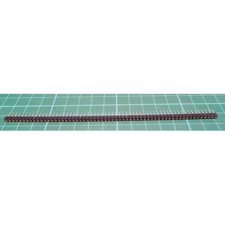 Socket: SIL, PIN: 64, gilt, polyester, UL94V-0, Øvýv: 0.5 mm, THT