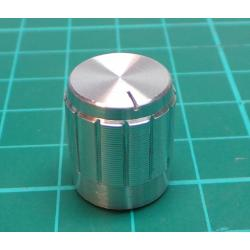Knobs 18T 15x17mm, shaft 6 mm silver