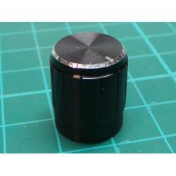Knobs 18T 15x17mm, 6 mm black shaft