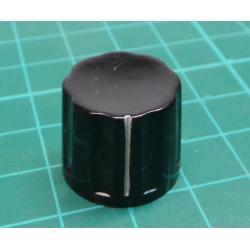 Knobs K16-2 19x16mm, shaft 6mm black