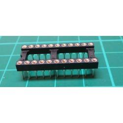 IC DIL Socket, 22 Pin, Turned Contacts