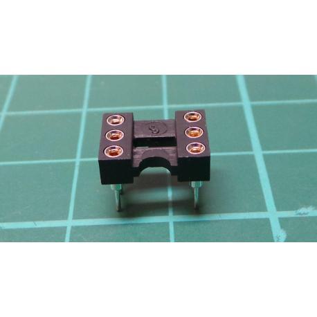 Cap: DIP, PIN: 6, 7.62 mm, gilt, polyester, UL94V-0, 1A, THT