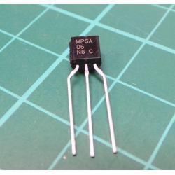 Transistor: NPN, bipolar, 80V, 500 mA, 625mW, TO92
