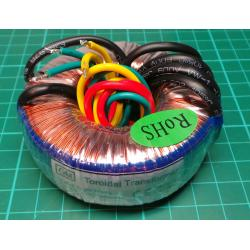 Toroidal Transformer, 230V : 2x12V diameter 71x32mm, 25VA