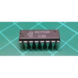 KA2206, 4W Stereo Amplfier