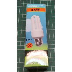 Energy saving lamp, 12VDC, 15W, E27, only starts up at 13V