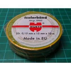 Insulating Tape, Green / Yellow