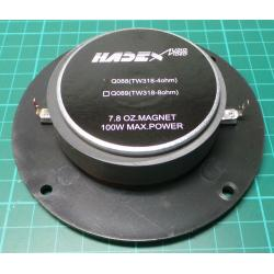 Speaker, 4ohm, 110mm, 25W RMS