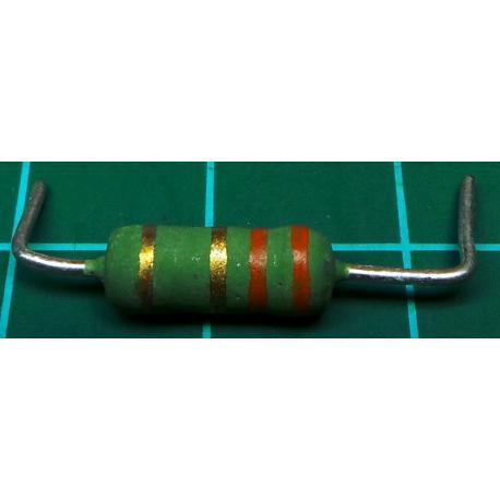 Resistor, 3R3, 5%, 1W, Formed Legs