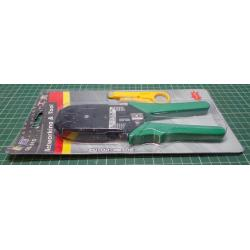 Crimp / Cut / Strip Tool, RJ45 RJ11 R9, Crimping