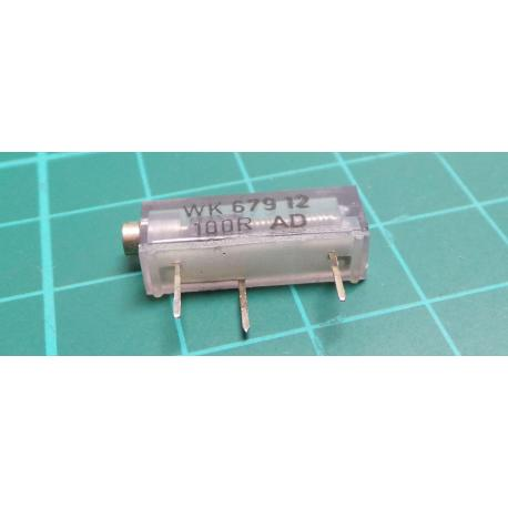 Trimpot, 16 Turn, 100R, 19x5x7mm, Old Stock