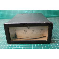USED Vintage, Very Large Panel Meter, 0-150 Degrees