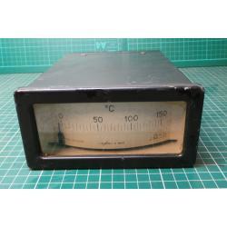 USED Vintage, Very Large Panel Meter, 0-150 Degrees