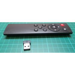USB2.0 Wireless Air Mouse Keyboard Remote Control Android for PC TV Black