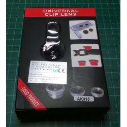 Universal lens for mobile 3in1