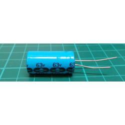 470u / 63V 85 ° 13x27x5mm, radial elektrolyt.kondenzátor