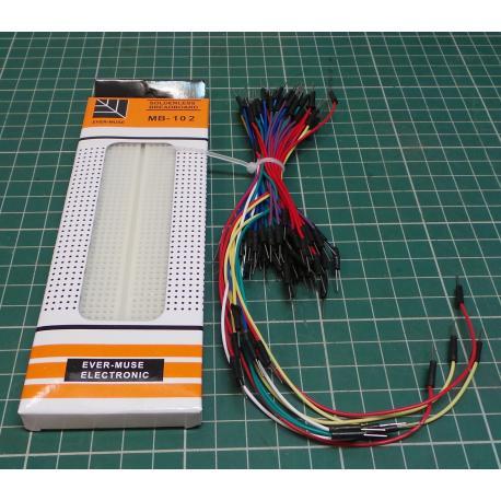 8X(H973 Breadboard breadboard laboratory breadboard with 830 contacts + 70pcs B)