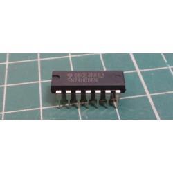 IC: digital, inverter, XOR, Channels: 4, THT, DIP14, Series: HC, 2 ÷ 6VDC