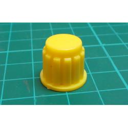 Knobs KP106, 15x16mm, shaft 6mm, yellow