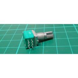 100k / N x2, WH9011A shaft 6x15mm, rotary potentiometer tandem