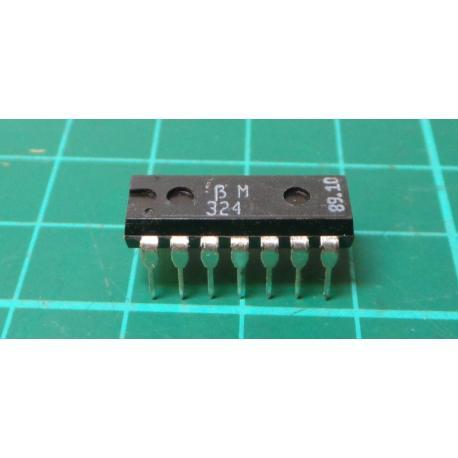 BM324 (LM324N Clone) , Quad Op Amp, DIL14 - DSMCZ