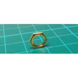 Nut, M5.5, 8mm, gold