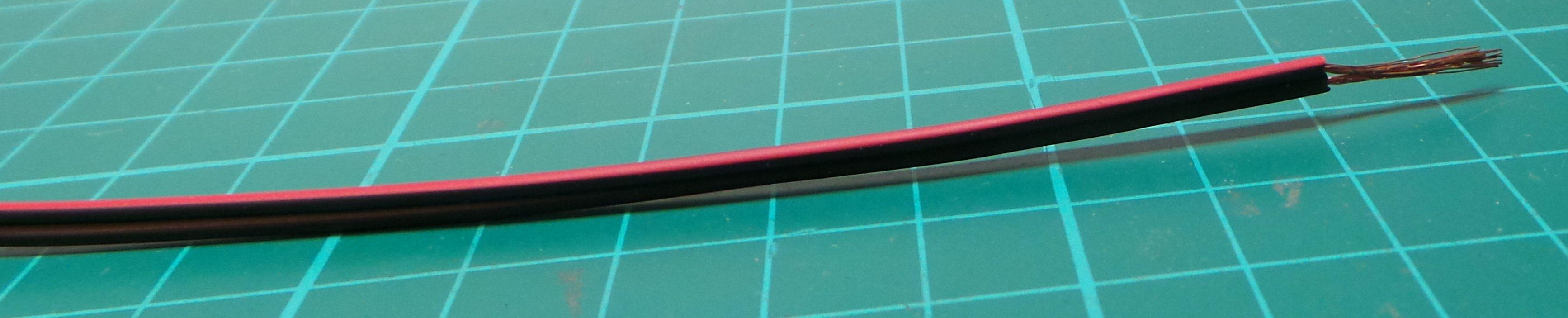 Wire, Paired, 24AWG, 0.22mm2, Black/Red - DSMCZ