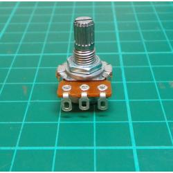 Potentiometer: axial, single turn, 500kΩ, 125mW, ± 20%, on cable